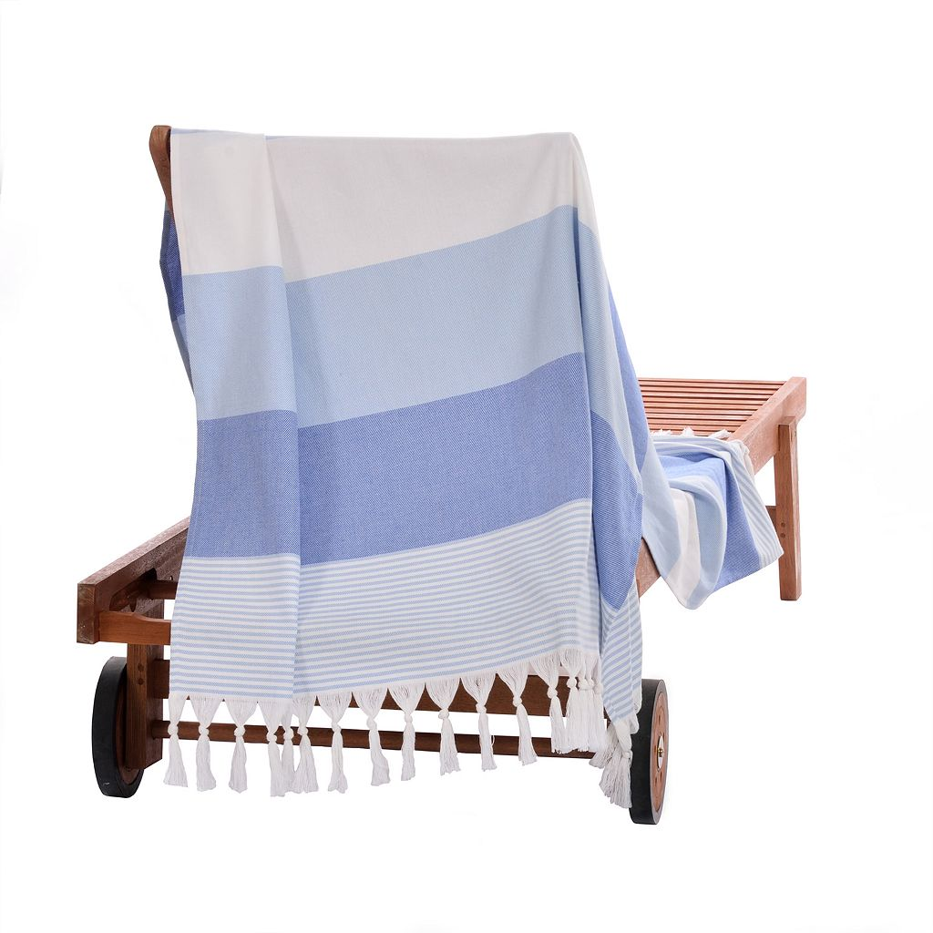 Linum Home Textiles Sea Waves Pestemal Beach Towel