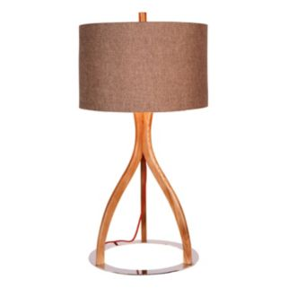 Catalina Lighting Faux Wood Table Lamp