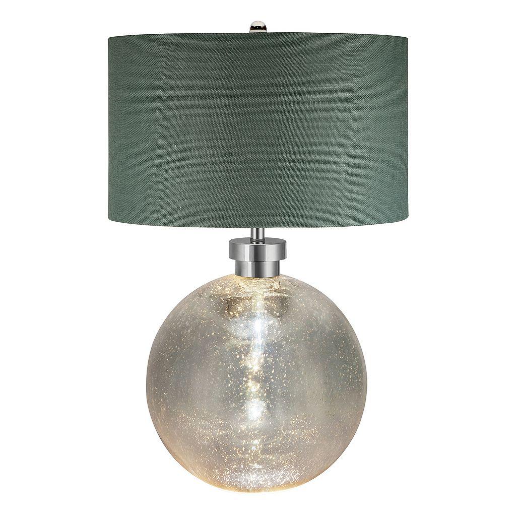 Catalina Lighting Mila Mercury Glass Nightlight Table Lamp