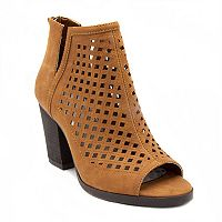 sugar Vael Women's Peep Toe Ankle Boots