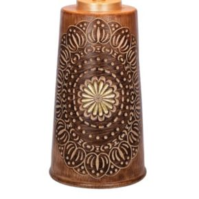 Catalina Lighting Carved Medallion Faux Wood Table Lamp