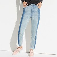 k/lab High-Waist Frayed Ankle Jeans