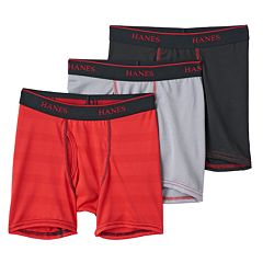 Boys Hanes 3-Pack Mesh Boxer Briefs