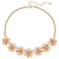 Mudd® Pink Flower Necklace