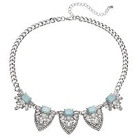Mudd® Blue Stone Cluster Statement Necklace