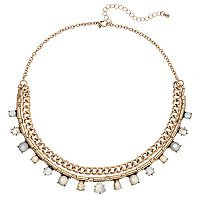 Mudd® Geometric Stone Swag Necklace