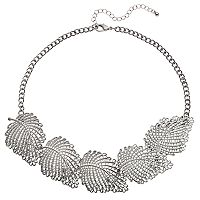 Mudd® Openwork Leaf Statement Necklace