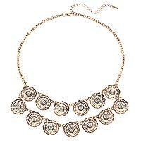 Mudd® Openwork Flower Swag Necklace