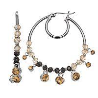 Simply Vera Vera Wang Nickel Free Beaded Double Hoop Earrings