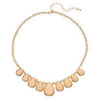Mudd® Peach Graduated Teardrop Necklace
