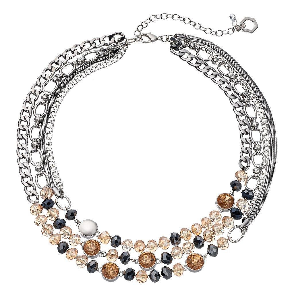 Simply Vera Vera Wang Beaded Multi Strand Chain Necklace
