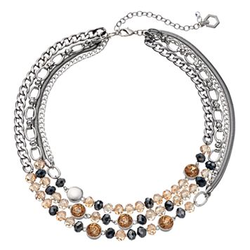 Simply Vera Vera Wang Beaded Multi Strand Chain Necklace
