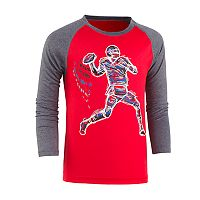 Boys 4-7 Under Armour Illuminated Receiver Football Raglan Tee