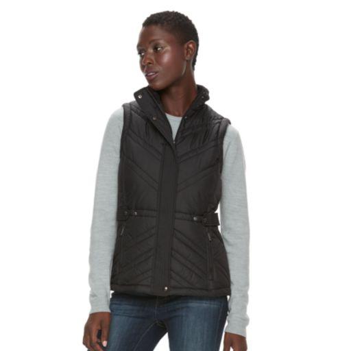 Women's Weathercast Hooded Puffer Vest