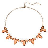 Mudd® Orange Marquise Stone Necklace