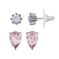 Simply Vera Vera Wang Inverted Teardrop & Round Nickel Free Stud Earring Set