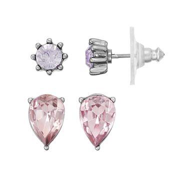 Simply Vera Vera Wang Inverted Teardrop & Round Nickel Free Stud Earring Set