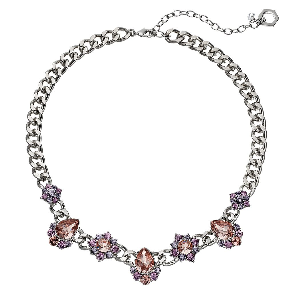 Simply Vera Vera Wang Faceted Stone Cluster Necklace
