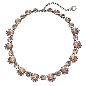 Simply Vera Vera Wang Faceted Stone Floral Cluster Necklace
