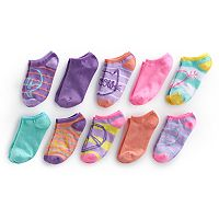 Girls 4-16 Bee Posh 10 pkPatterned No-Show Socks