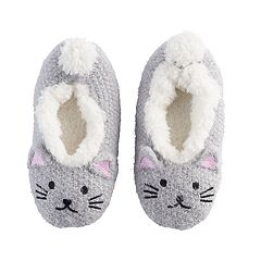 Girls 4-16 Kitty Cat Slipper Socks