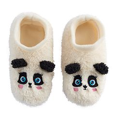 Girls 4-16 Panda Bear Slipper Socks
