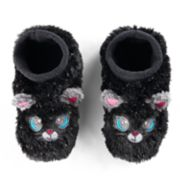 Girls 4-16 Fuzzy Cat Slipper Socks