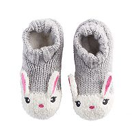 Girls 4-16 Bunny Rabbit Slipper Socks