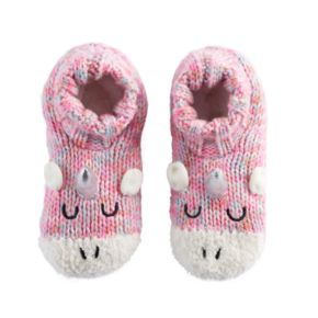 Girls 4-16 Unicorn Knit Slipper Socks