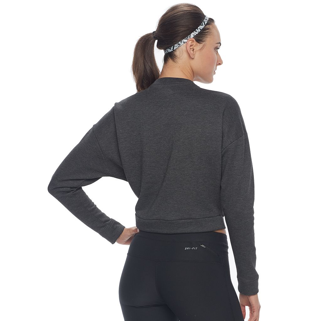 Women's Nike Training Cropped Long Sleeve Top