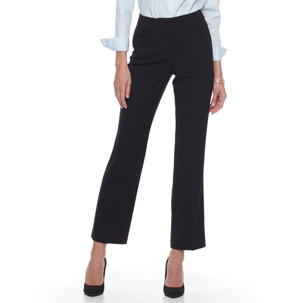 Women's Dana Buchman Curvy Straight Leg Dress Pants