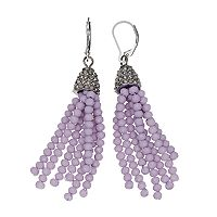 Simply Vera Vera Wang Nickel Free Purple Beaded Tassel Drop Earrings