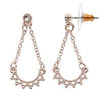 LC Lauren Conrad Pointed Nickel Free Chandelier Earrings