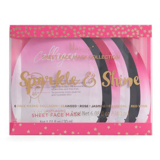 Lila Grace 6-pk. Sparkle & Shine Face Masks