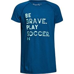 Girls 7-16 Under Armour 'Be Brave Play Soccer' Tee