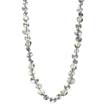 Simply Vera Vera Wang Beaded Disc Long Necklace