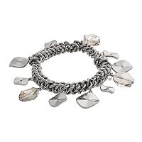 Simply Vera Vera Wang Shaky Hammered Disc Stretch Bracelet