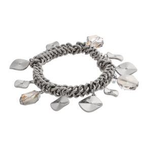 Simply Vera Vera Wang Shaky Hammered Disc Stretch Bracelet