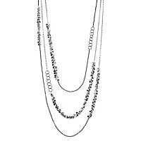 Simply Vera Vera Wang Two Tone Shaky Disc & Circle Link Layered Necklace