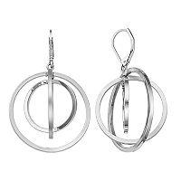 Simply Vera Vera Wang Round Orbital Nickel Free Drop Earrings