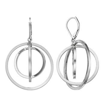 Simply Vera Vera Wang Round Orbital Nickel Free Drop Earrings