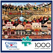 Charles Wysocki Sleepy Town West 1000 pc Puzzle by Buffalo Games