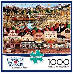 Charles Wysocki Sleepy Town West 1000-pc. Puzzle by Buffalo Games