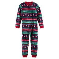Kid 4-20 Jammies For Your Families Snowman Fairisle Microfleece One-Piece Pajamas