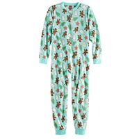 Kids 4-20 Jammies For Your Families Holiday Cookies Microfleece One-Piece Pajamas