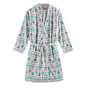 Kids 4-20 Jammies For Your Families Christmas Tree Fairisle Microfleece Robe