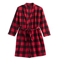 Kids 4-20 Jammies For Your Families Buffalo Plaid Microfleece Robe