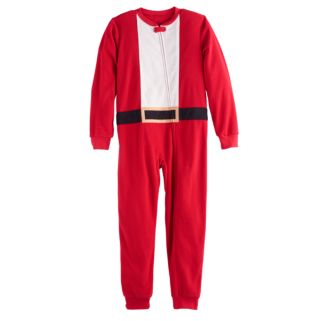 Kids 4-20 Jammies For Your Families Santa Suit Microfleece One-Piece Pajamas