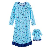 Girls 4-16 Jammies For Your Families Starfish Nightgown & Doll Gown Pajama Set