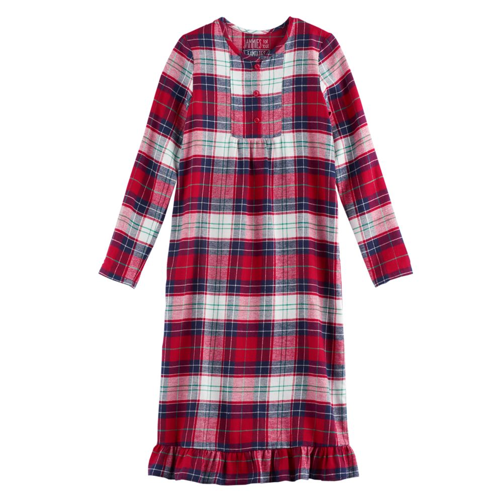 Girls 4-16 Jammies For Your Families Plaid Flannel Nightgown & Doll ...